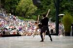 Lorena Feijoo & Vitor Luiz in Tomasson/Possokhov's 'Don Quixote' Pas de Deux at Stern Grove, Summer 2011; Photo © Erik Tomasson